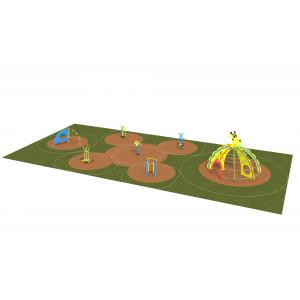 Детская игровая спортивная площадка от 3 до 7 лет