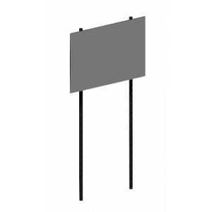 Стенд информационный на двух опорах, без фланцев