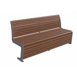 Скамейка стальная со спинкой