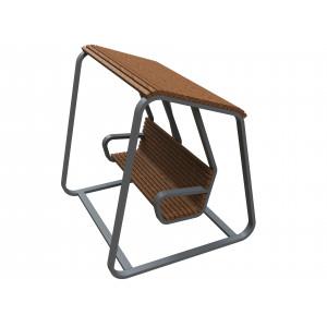 Скамейка-качели с навесом
