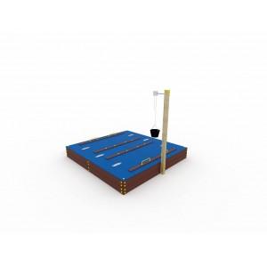 Песочница с крышкой и корзиной