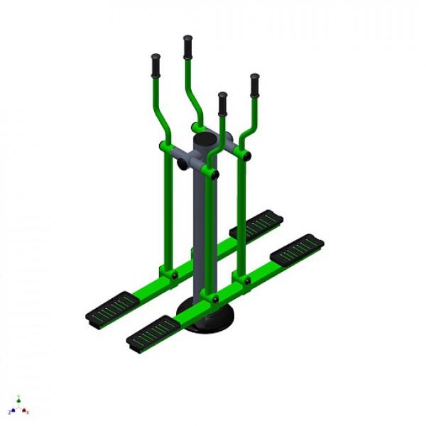 Тренажер лыжи на одном столбе